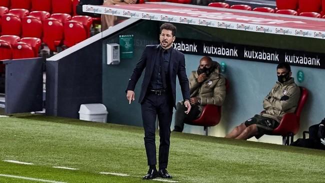 Simeone, en un partido con el Atlético.