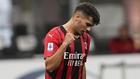 Brahim celebra un gol con el Milan.