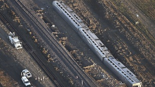 Part of an Amtrak train that derailed in north-central Montana...