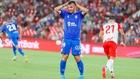 Elady se lamenta durante el partido ante el Almería.