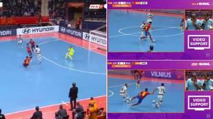 Así fue la polémica remontada de Portugal ante España: posible falta de Ricardinho, gol en propia puerta...
