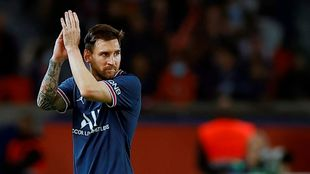 Lionel Messi with PSG