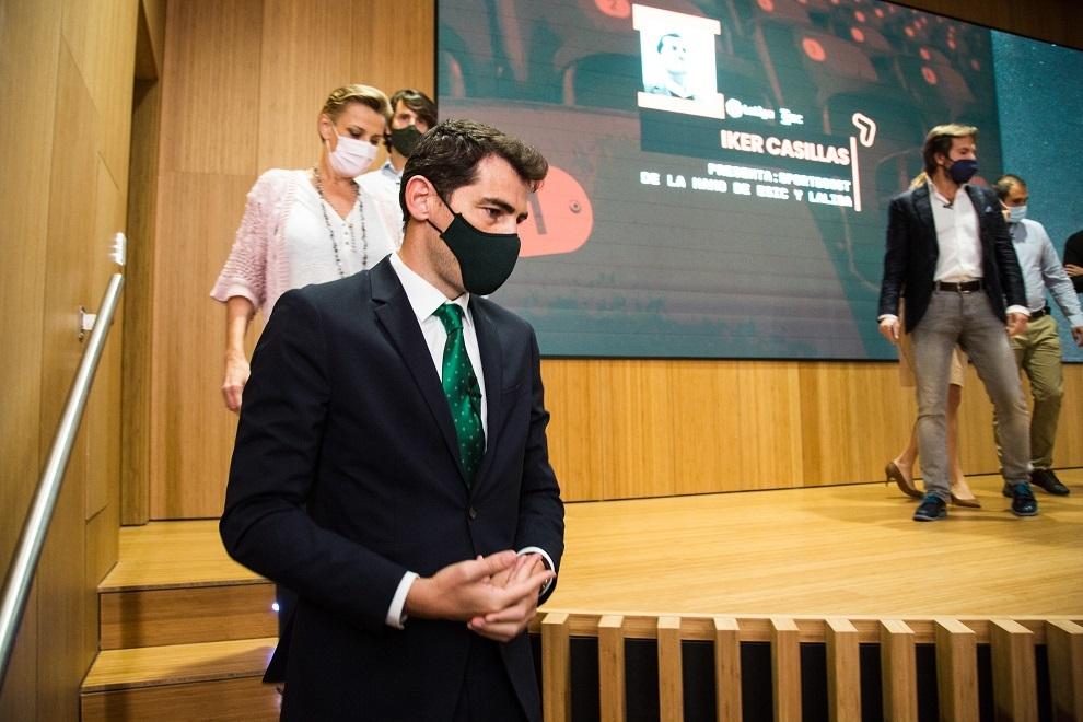 Iker Casillas durante el evento.