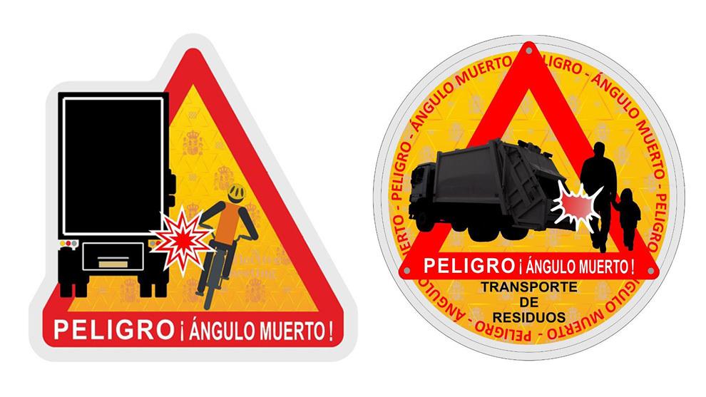 DGT - nueva señal de angulos muertos - Amazon - peligro - Direccion General de Trafico