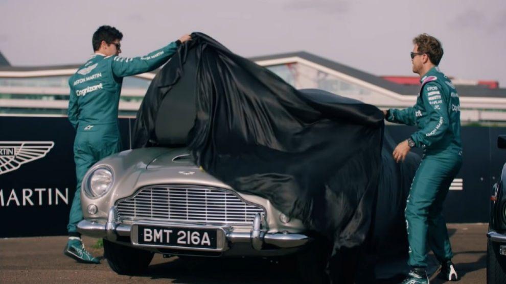 Sebastian Vettel - Lance Stroll - Aston Martin DB5 - James Bond - Sin Tiempo Para Morir