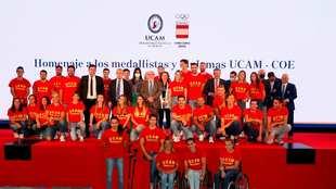 Los deportistas olímpicos de la UCAM homenajeados en el COE