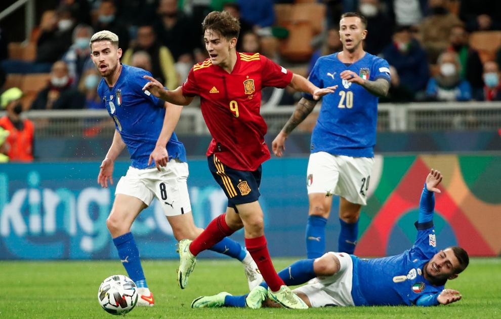 Gavi, con la selección española