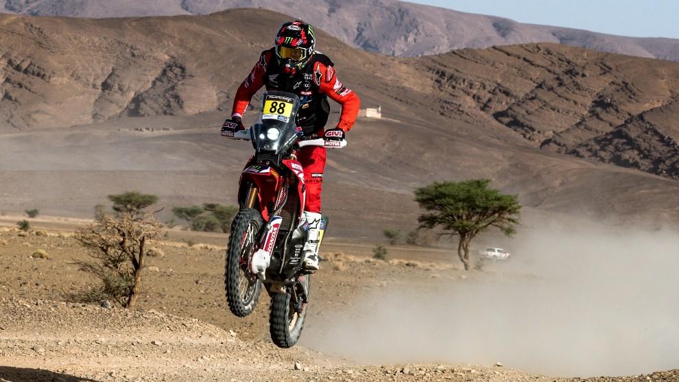 Joan Barreda - Rally de Marruecos - Honda - penalizacion - motos