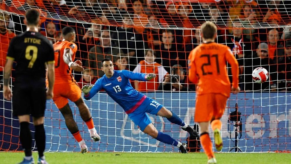 Países Bajos - Gibraltar: Memphis Depay se divierte con un doblete en la  goleada ante Gibraltar - Fase de clasificación al Mundial