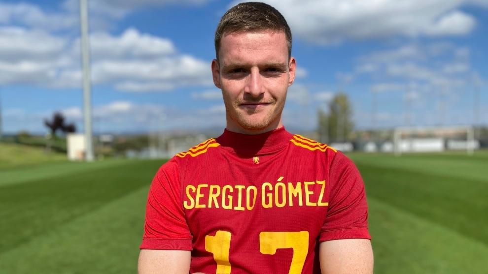 Sergio Gómez en su entrevista con MARCA.