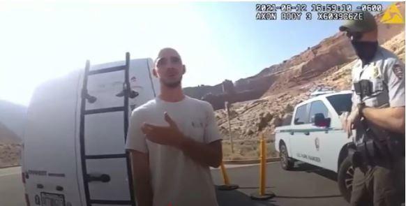 El novio de Gabby Petito, Brian Laundrie, en un fotograma del vídeo de la Policía
