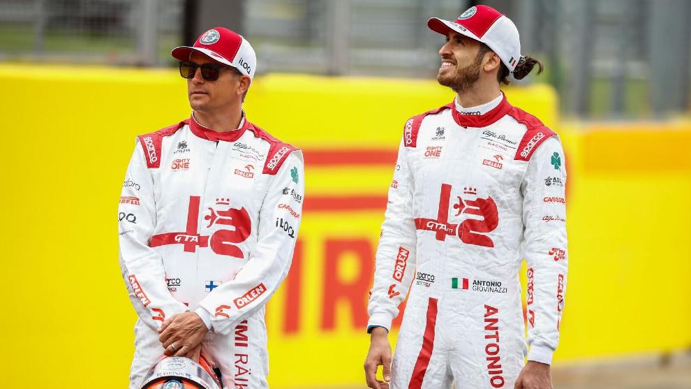 Kimi Raikkonen y Antonio Giovinazzi 2021
