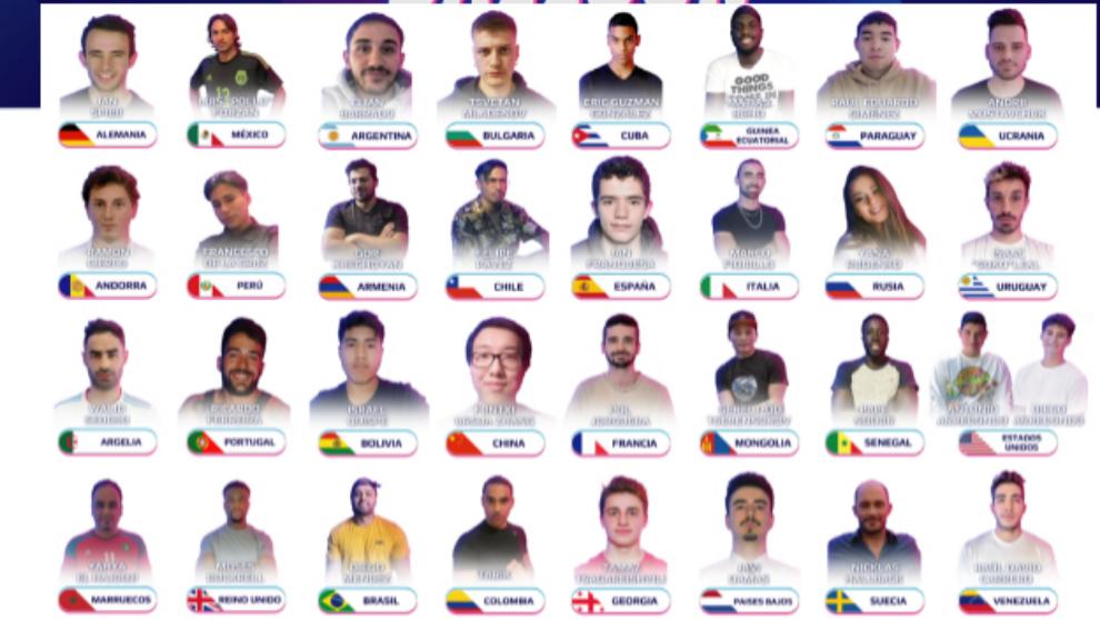 Todos los participantes del Mundial de Globos