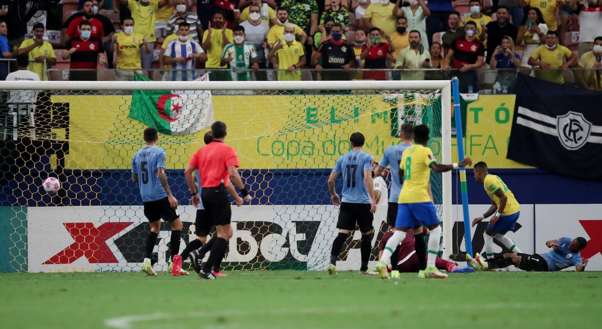 Brasil vs Uruguay, en vivo el partido de la jornada 12 de las eliminatorias de Conmebol Qatar 2022