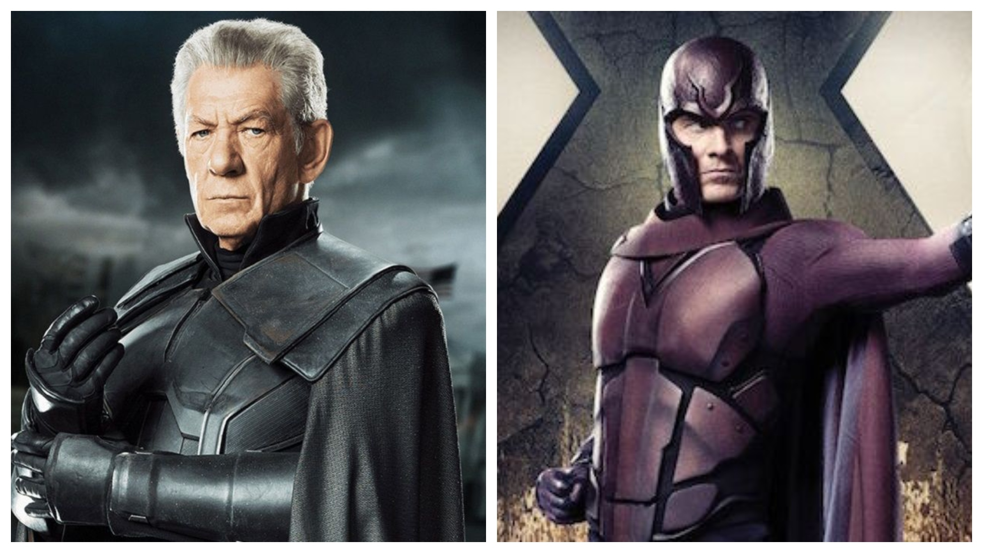 Ian Mckellen and Michael Fassbender, in the role of Magneto.