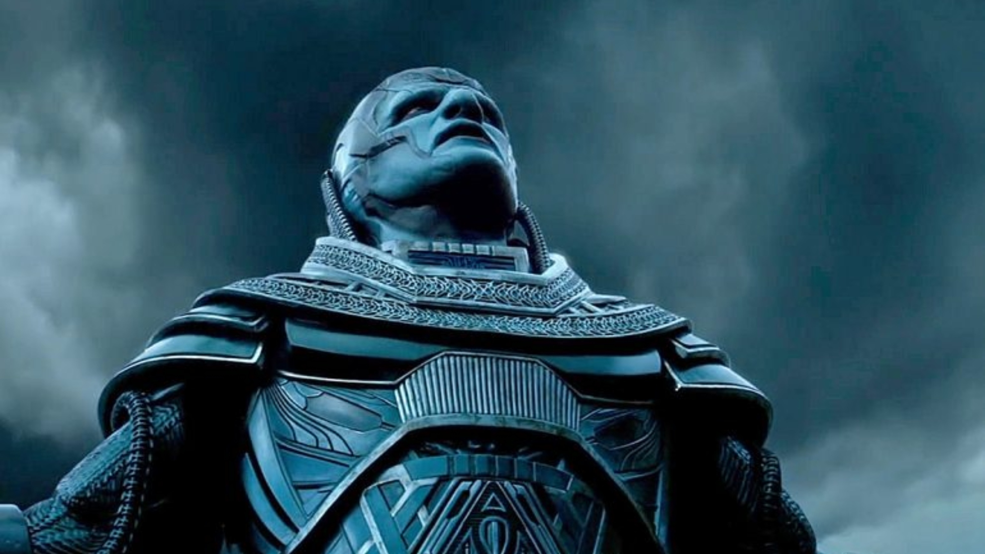 Oscar Isaac, in the role of Apocalypse.
