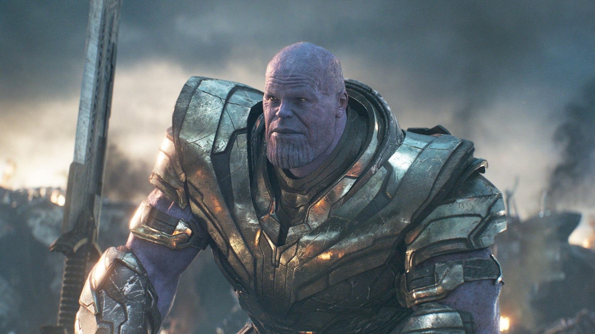 Josh Brolin, in the role of Thanos.