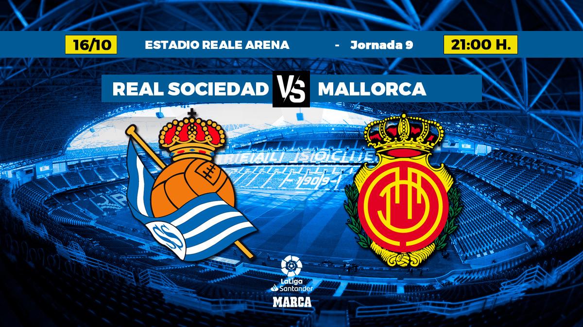 Alineaciones confirmadas del Real Sociedad-Mallorca: Ángel, en la punta de...