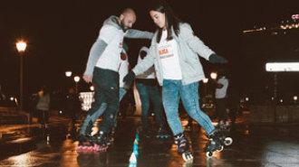 ¿Cómo es la noche de Madrid sobre patines?