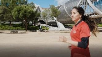 Así lleva Mariam Hernández el entrenamiento de su media