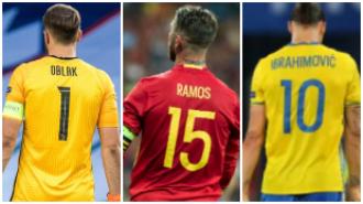 Las ausencias de la Euro 2020