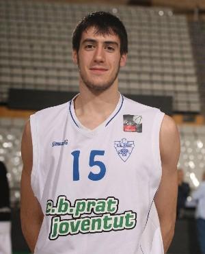 Albert Homs con la camiseta del CB Prat Joventut de Adecco Plata | Foto: penya.com