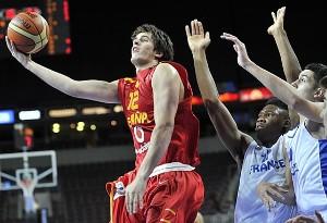 David Iriarte en el Europeo U18.   Foto: FIBA