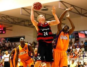 Larsen en un partido de la pasada pretemporada. | ACB