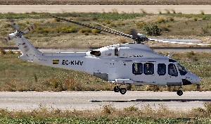 Que el helicóptero fuera blanco no me entusiasmó, claro.