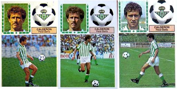 Gaby Calderón (Betis) Ediciones Este, 1983-1984. Triple versión