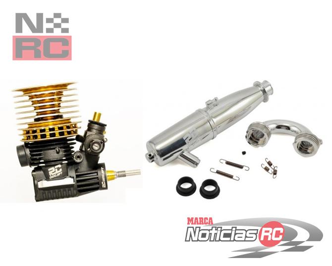 Motor y escape RC Concept MC5R