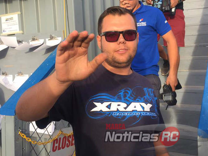 Alex Daras al bajar de su subfinal