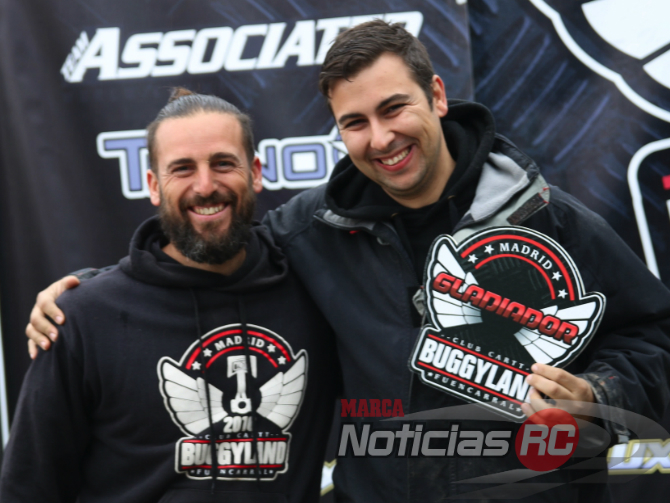 Entrega de trofeos, Miguel izquierdo y David benito