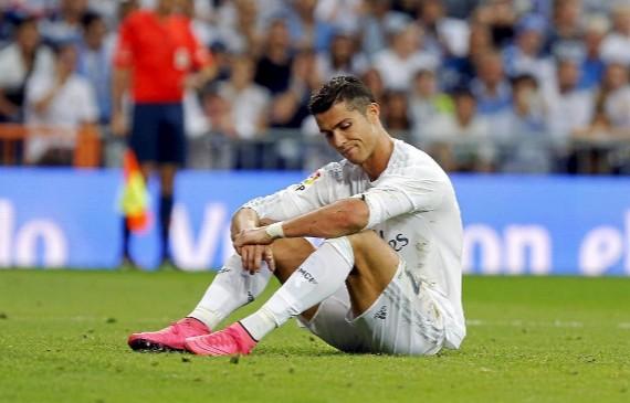 Cristiano en el partido de Liga frente al M�laga