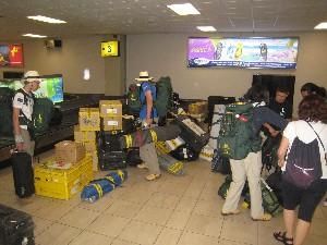 Parte del equipaje del campamento de la Ruta Quetzal BBVA