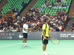 Nadal y Ferrer, durante en clínic en Taiwán / Facebook