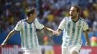 Gol de Higuaín (1-0) en el Argentina-Bélgica