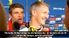 Bromas entre los jugadores alemanes tras el histórico 1-7