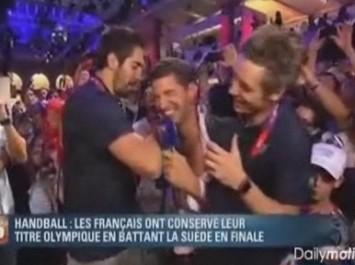 Así celebra la selección francesa de balonmano el oro olímpico