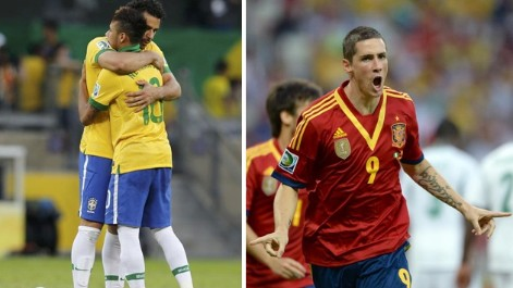 Los tantos de Torres, Neymar y Fred en la Confederaciones