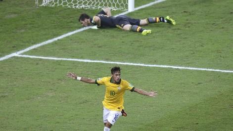 El resumen del Brasil-Espa�a