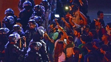Batalla campal a las puertas de Maracan�