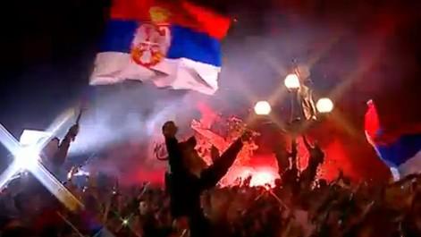 Recibimiento a Serbia