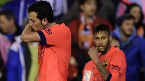 Gol de Busquets (0-1) en el Valencia-Barcelona