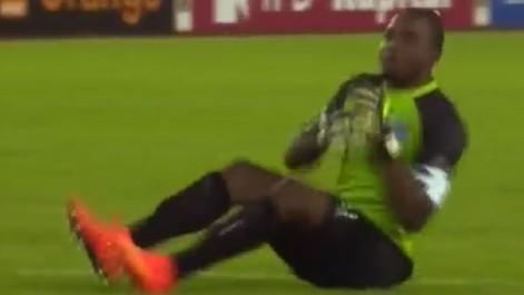 El portero de la República Democrática del Congo  festejó  de manera peculiar uno de los goles ante