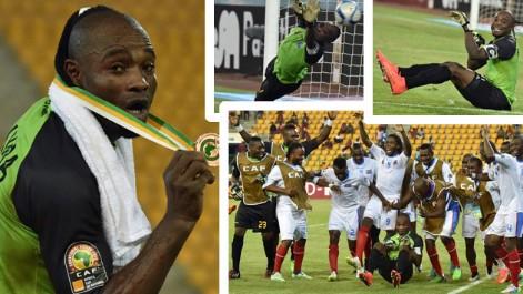 El particular show del portero de Congo en la tanda de penaltis