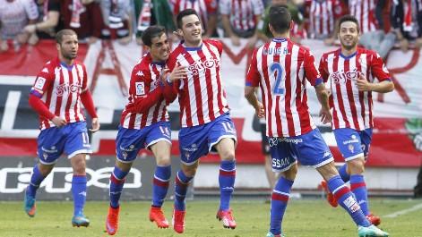 El Sporting de Gijón venció 2 a 0 al Tenerife
