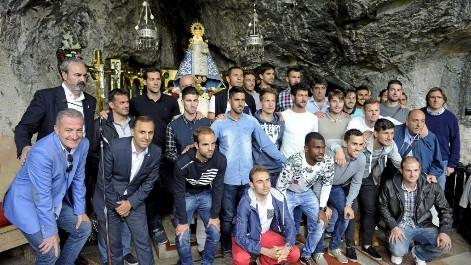 El Oviedo ofreci� el ascenso a la Virgen de Covadonga