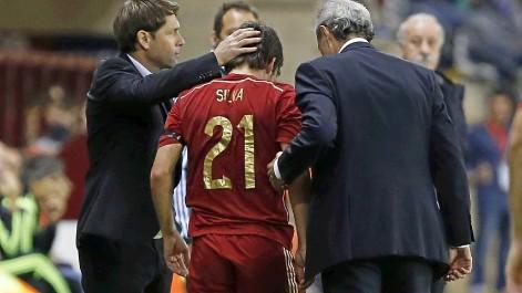Silva sufre un esguince de  tobillo tras una dura entrada