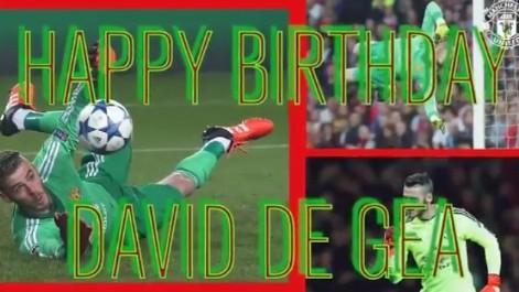 El Manchester United felicita a De Gea por sus 25 a�os